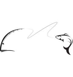 Angler fishing vector