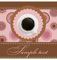 coffee invitation background vector image