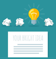 flat design bright idea abstract vector image