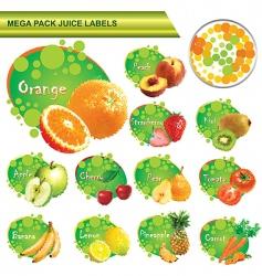 juice labels mega pack vector image