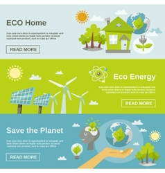 Eco Energy Banner vector image