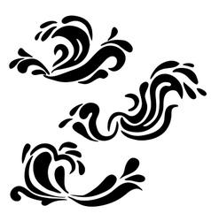 High quality original water swirl pattern set vector