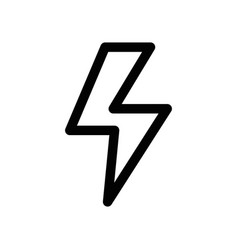 line dangerous energy hazard symbol to security vector image vector image