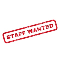 Staff Wanted Rubber Stamp vector image vector image