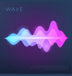 abstract music background with sound voice vector image