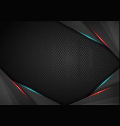 abstract silver line light on black design modern vector image