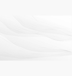 abstract white and silver wavy with curved lines vector image