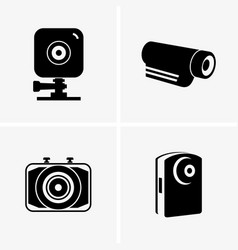 action cams vector image