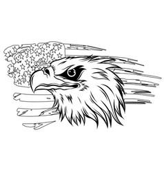 american bald eagle against vector image