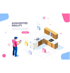 augmented reality design vector image