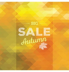 Autumn sales background vector
