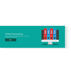 Banner online accounting vector