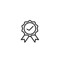 best quality badge icon vector image
