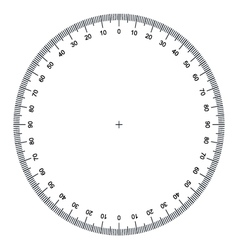 Blank protractor Actual Size Graduation vector