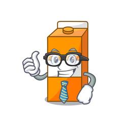 businessman package juice character cartoon vector image