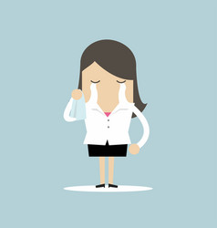 Businesswoman crying vector