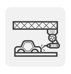 Car manufacture icon vector