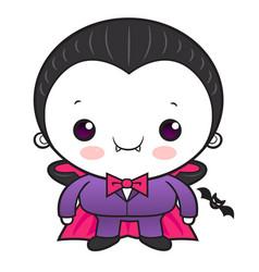 Cartoon cute dracula character orders halloween vector