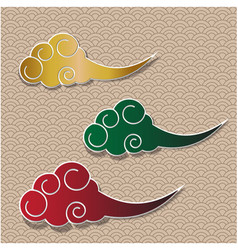 Chinese cloud traditional background vector