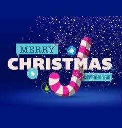 christmas greeting card flat design vector image