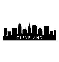 cleveland ohio skyline silhouette vector image