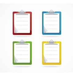 clipboard icon set Flat Design vector image