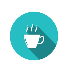 coffee or tea cup trendy flat minimal style vector image