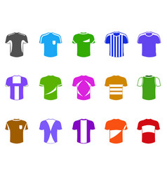 color t-shirt icon vector image