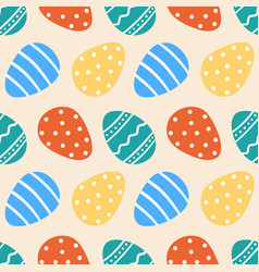 Colorful decorated easter eggs pattern vector