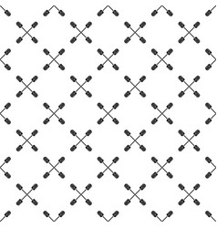 Cross paddle pattern seamless vector