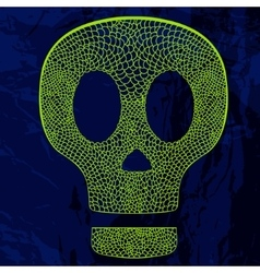 decorative skull on grunge background vector image