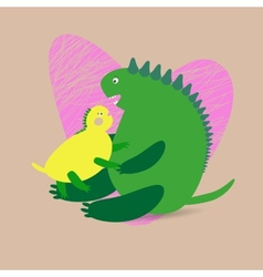Dinosaur background vector