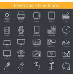 Electronics Icons vector