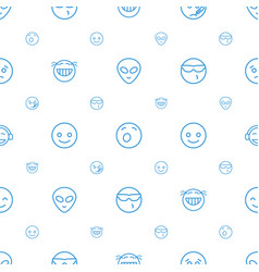 Emoticon icons pattern seamless white background vector