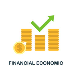 Financial economic icon simple element from vector