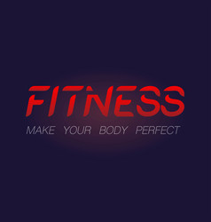 fitness custom made text background vector image