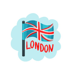 flag of the united kingdom national british vector image