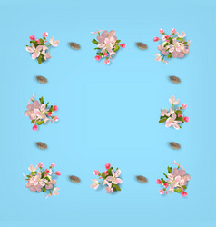 Floral top view background vector