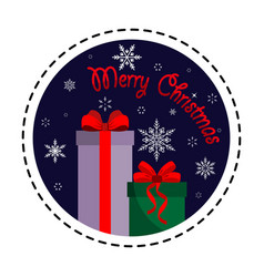 gift box merry christmas vector image