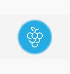grape icon sign symbol vector image