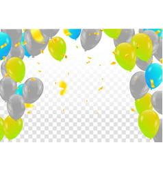 green balloons on white background vector image