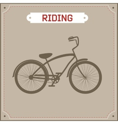 Hipster bike retro vector image