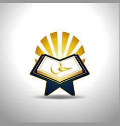 holy al quran logo sign symbol icon vector image