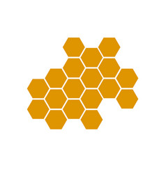 honeycomb bee icon on white background honeycomb vector image