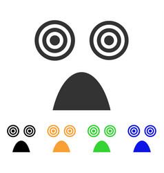 horror smile icon vector image