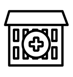 Hospital line icon medical center vector