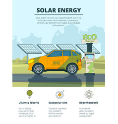 infographics electro cars eco conceptual vector image