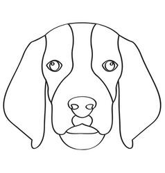 isolated beagle avatar vector image