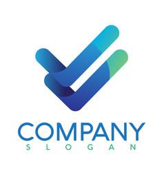 Leter v logo creative vector