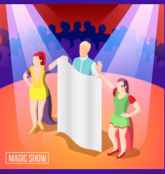 magic show isometric background vector image